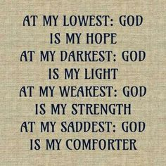 God is.......