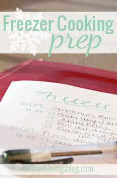 Prepare for a day of successful freezer cooking with these freezer cooking prep tips. Includes a FREE printable to keep you on track and running smoothly!