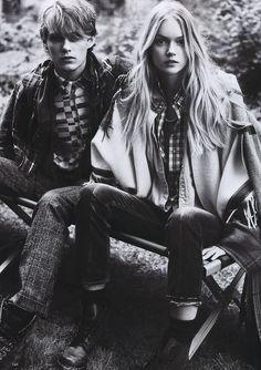 "Stas Svetlichnyy & Lindsay Ellingson in ""Neo Grunge"" by Michael Sanders for Elle Japan January 2011"