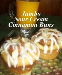 In Cindy's Kitchen: Jumbo Sour Cream Cinnamon Buns: Breakfast Is Served ...fluffy, soft, velvety deliciousness swirled with cinnamon and brown sugar