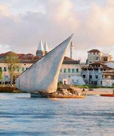 A dhow off Stone Town, Zanzibar