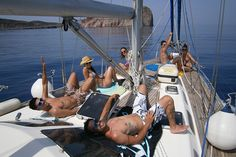 This is how we sail...nice and comfy!  www.polco-sailing.com