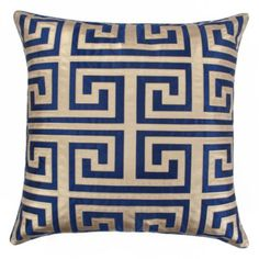 Mykonos Pillow; | Pillows | Bedding and Pillows | @zGallerie. Royal blue and gold
