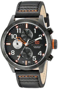 Tommy Hilfiger Men's 1791136 Cool Sport Analog Display Quartz Black Watch