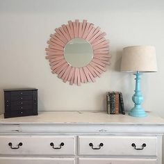 decoart-inc:  Wooden Shim Rose Gold Starburst Mirror  http://ift.tt/1O6j9wn