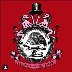 Hedgehog - Ex Libris Olympia Le-Tan