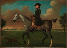 The crisp, taut handling is typical of Seymour's sporting pictures. Although the sitter is unidentified, the landscape shows the outskirts of London, with Lanesborough House (left), and Chelsea Hospital in the distance