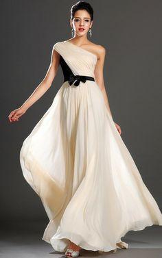 Natürliche Taile Ein Schulter ärmellos anständiges luxus besonderes Abendkleid