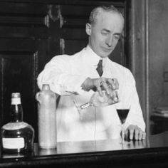 Harry Craddock- head bartender of American bar in Savoy hotel, London. One of the legends of bartending. Creator of Corpse Reviver cocktail.