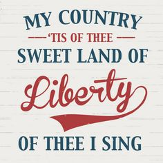 My Country Tis of Thee Patriotic Printable found at  HMH Designs, featured @printabledecor1