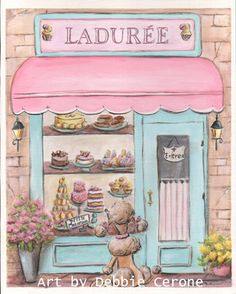 Laudree  Paris Print. Copy of my original by NurseryRembrandts
