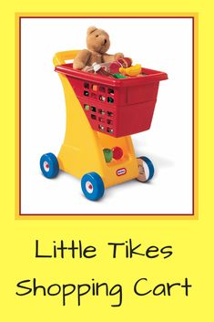 A favorite toy can ride in the fold-down seat Storage underneath basket provide plenty of space for a child's favorite things Seat Storage, Little Tikes, 1 Year Olds, Favorite Things, Basket, Future, Space, Yellow, Toys