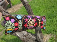 Embroidery Floral Needlecraft Suzani Pillow Cover by HandcraftMade