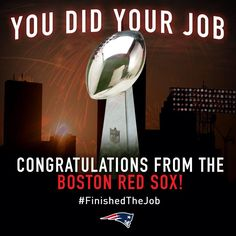New England Sports are the Best! #SupportFromTheSox #Respect