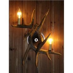Wall Lights - Art Deco Wall Lights - Artistic Antler Featured Wall Light with 2 Lights