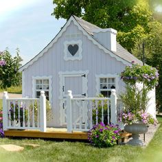 garden exciting picture of kid playroom garden decoration design ideas using vintage white cottage cool kid playhouse along with curve scallop white wood