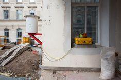 #Geomonitoring #Mannerfabrik, #Wien | AT, photo by matthias ritschl #Einsturz #Vermessung #Surveying