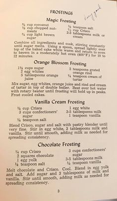 Old Recipes, Vintage Recipes, Cookbook Recipes, Sweet Recipes, Baking Recipes, Brownie Cake, Pie Cake, Cake Icing, Popsicle Recipes