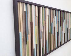 Arte de pared de madera madera arte escultura por moderntextures
