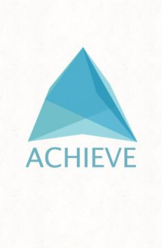 """Logo designed for goals group in San Jose called Achieve.  The logo represents the shape of an """"A"""" as well as a mountain to symbolize an achievement such as climbing Mount Everest.  It may also be interpreted to represent an arrow to symbolize aiming for a target such as in archery. More information about the group can be found at www.achievesouthbay.com."""