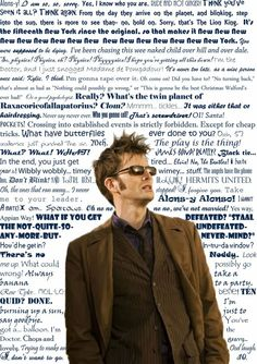 "David Tennant the 10th Dr - Best Quotes from Him EVER!  my favorites- ""who ya gonna call, GHOSTBUSTERS"", ""always bring a banana to a party "" to many to put!  the worst = Rose Tyler I....... and i am burning up a sun just to say good bye"
