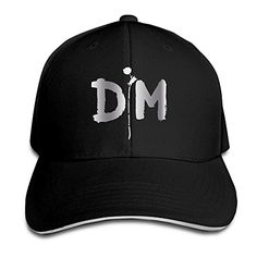 KMRR Depeche Mode Logo Platinum Style Flex Baseball Cap Black  Adjustable Snap Closure In The Back  Design Is Printed, NOT EMBROIDERED.  Cotton  A Classic Stylish Cap Great For Men And Women Casual Style  Hand Washing Only