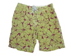 Teen Soft Hawaii Waves Rowing Casual Style Beach Shorts Swim Trunks Board Shorts