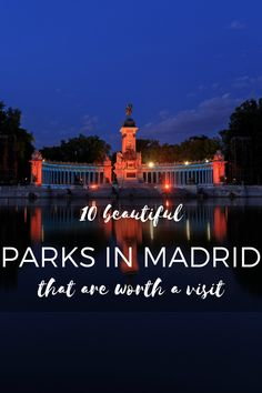 Take a break from the busy Madrid streets and visit one of the city's peaceful parks! madridfoodtour.com