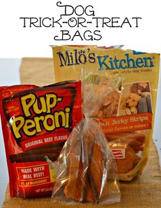 Create Trick-Or-Treat bags for all the canine companions who come to your door on Halloween! #TrickOrTreatEm #shop