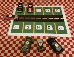 Kidscanlearnschool: Alphabet Parking Lot. Free Language Arts Workstati...