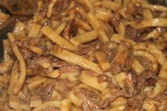 beef and noodles over mashed potatoes - Google Search