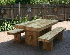 Unique ecologic dining set with one bench. Made with reclaimed shipping pine pallet wood. Item is properly sanded and treated with environment friendly water based poly. Natural character of listed item fits most of interior designs. Dimensions and stain color can be modified. Bench is shorter so can be hide under table. Table dimensions: 80L x 28W x 30H Bench : 72L x 12W x 18H