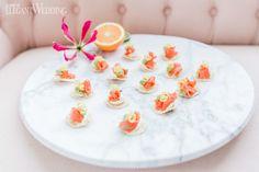 Fun ways to use citrus fruit at your wedding | ElegantWedding.ca Wedding Food Catering, Wedding Food Stations, Wedding Reception Food, Food Tasting, Fruit, Tableware, Tips, People, Dinnerware