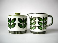 Mid Century Boch Rambouillet Cream and Sugar Set by tippleandsnack on Etsy https://www.etsy.com/listing/83807292/mid-century-boch-rambouillet-cream-and