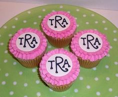 Monogram Cupcakes for Baby Shower if baby's name is already known.