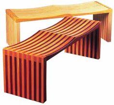 Mobiliário Contemporâneo Nacional Móvel: Banco Ressaquinha. Designer(s): Maurício Azeredo  Características: simplicidade construtiva; sobriedade;  linhas curvas.