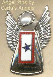 Blue Star Flag Angel Pin-$21.95