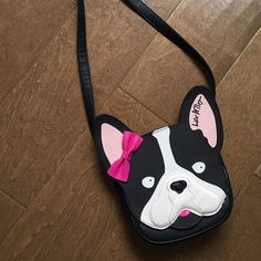 Betsy Johnson Dog Purse Brand new! A cute unique purse to throw over your shoulder on the way out to town. Betsey Johnson Bags Crossbody Bags