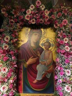 Orthodox Catholic, Orthodox Christianity, Blessed Virgin Mary, Orthodox Icons, Jesus Christ, Religion, Spirituality, Artwork, Flowers