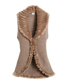 Chico's Foster Faux-Fur Vest #chicossweeps