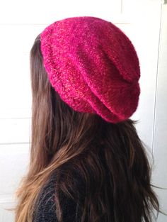 Hot Pink  Teen's / Women's Beanie by LacyDaisyKnits on Etsy