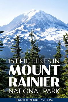 Best hikes in Mount Rainier National Park in the Sunrise, Paradise, Carbon River, and Ohanapecosh areas. On the list are the Skyline Trail to Panorama Point, Tolmie Peak, Grove of the Patriarchs, Silver Falls, Mount Fremont Fire Lookout, Summerland Trail, Wonderland Trail, Camp Muir and more.