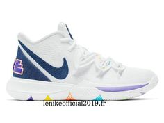 Nike Kyrie 5 Have A Nike Day Blanc/Bleu AO2919-101 Chaussure de Basketball Pas Cher Pour Homme