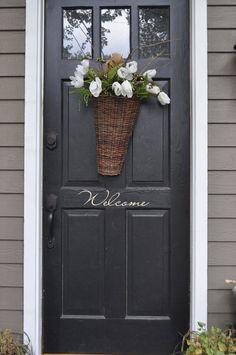 Welcome SignFront Door Vinyl Decal by noelinteriors on Etsy, $7.75
