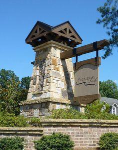 Primrose Entrance Sign detail