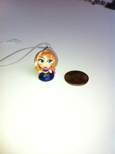 Mini tiny Princess Anna Anime style charm from Disney Frozen! Do You want to build a snowman?