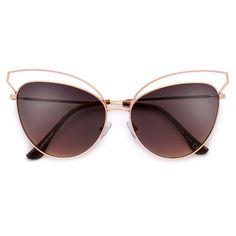 02184b5157 Open Wire Metal Tip Elegant Cat Eye Sunglasses – Sunglass Spot