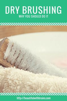 Dry brushing is an old spa treatment that uses a natural bristles brush to slough off dead and dry skin cells in circular motions.