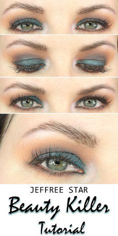 Jeffree Star Beauty Killer Palette Tutorial - an easy smokey eye tutorial that's great for hooded eyes.