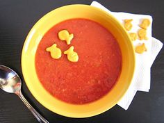 Tomato soup is quick and easy to make at home and you won't believe how much better it tastes than the canned variety!